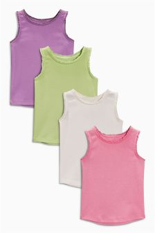 Multi Bright Vests Four Pack (3mths-6yrs)