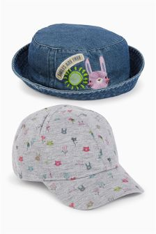 Character Cap And Fisherman's Hat Two Pack (Younger Girls)