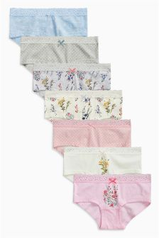 Blue/Pink Keepsake Hipsters Seven Pack (3-16yrs)