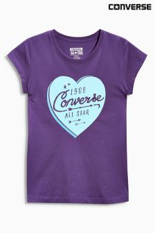 Purple Converse Heart T-Shirt