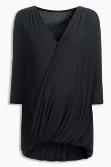 Black Drape Nursing Top (Maternity)