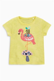Yellow Flamingo T-Shirt (3mths-6yrs)