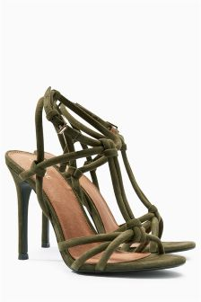 Leather Knot High Sandals