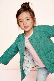 Green Boxy Jacket (3mths-6yrs)
