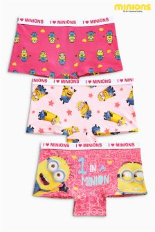 Pink Minions Boxers Three Pack (3-16yrs)