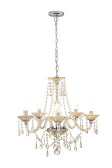 Marie 5 Light Mink Chandelier