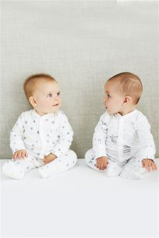 Monochrome Giraffe Sleepsuits Three Pack (0mths-2yrs)