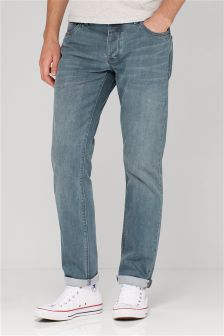 Grey/Blue Jeans With Stretch