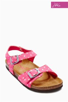 Pink Little Joule Spotted Sandal