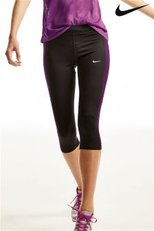 Black/Purple Nike Essential Capri