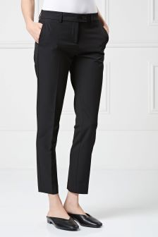 Black Workwear Taper Trousers