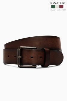 Brown Signature Italian Leather Casual Belt