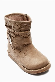 Mink Cut Out Boots (Younger Girls)