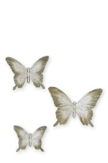 Set Of 3 Resin Butterfly Plaques
