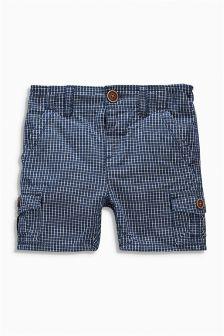 Navy Cargo Shorts (3mths-6yrs)