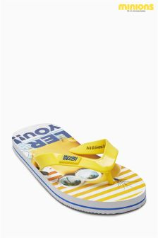Yellow Minions Flip Flops (Older Boys)