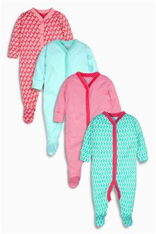 Multi Striped Sleepsuits Four Pack (0mths-2yrs)