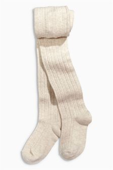 Oatmeal Cable Tights (3-16yrs)