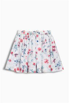 Ecru Floral Print Skirt (3mths-6yrs)