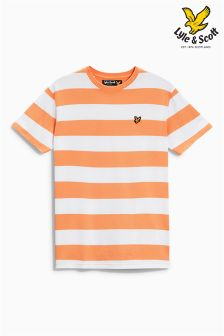 Orange Lyle & Scott Stripe T-Shirt