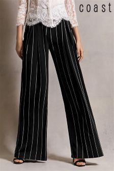 Black Coast Lille Stripe Wide Leg Trouser