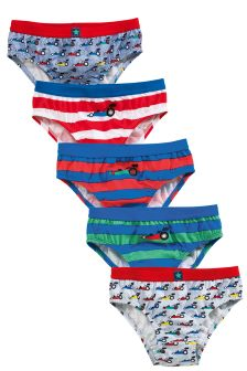 Multi Racing Car Briefs Five Pack (1.5-8yrs)