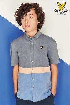 Navy/Orange Lyle & Scott Colourblock Shirt