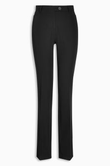 Black Workwear Boot Cut Trousers