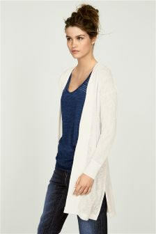 Knit-Look Longline Cardigan