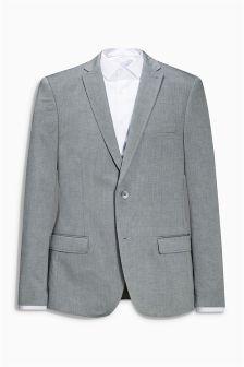 Textured Cotton Slim Fit Jacket