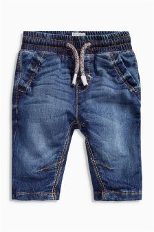 Denim Jersey Jeans (0mths-2yrs)