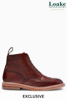 Burgundy Loake Brogue Boot