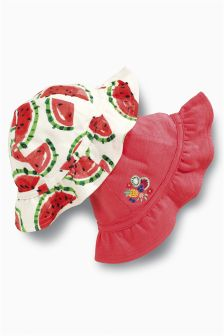 Watermelon Hats Two Pack (0mths-2yrs)