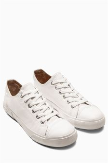 Leather Look Baseball Trainers
