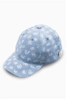 Blue Denim Ditsy Cap (Older Girls)