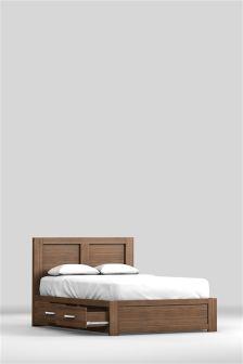 Cuba Walnut Storage Bed