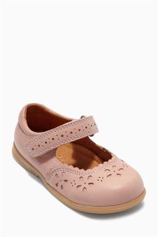 Pink Leather Shoes (Younger Girls)
