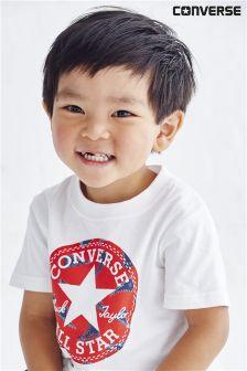 Converse White Chuck Taylor T-Shirt (3mths-2yrs)