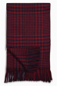 Burgundy Prince Of Wales Scarf