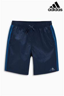 Navy adidas 3 Stripe Swim Short