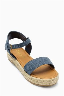 Navy Flatform Wedge (Older Girls)