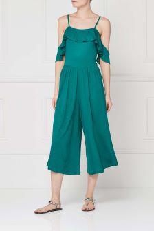Green Culotte Jumpsuit