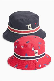 Multi Boat Fisherman's Hats Two Pack (Younger Boys)