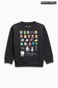 Charcoal Minecraft Figure Crew Neck Sweater (5-14yrs)