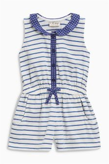 Navy/White Stripe Playsuit (3mths-6yrs)