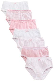 Pink/White Frill Trim Briefs Seven Pack (1.5-16yrs)