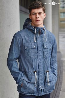 Blue Pretty Green Chambray Utility Jacket