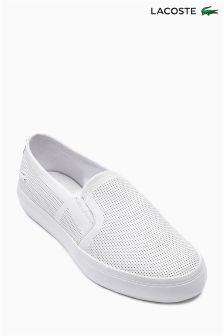 Lacoste® White Gazon Slip On