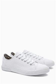 Canvas Baseball Lace-Up Trainers