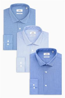 Blue Shirts Three Pack